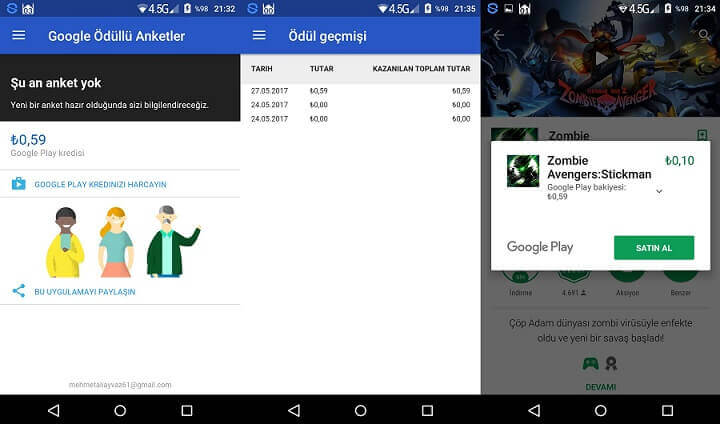 Google Play Anketler