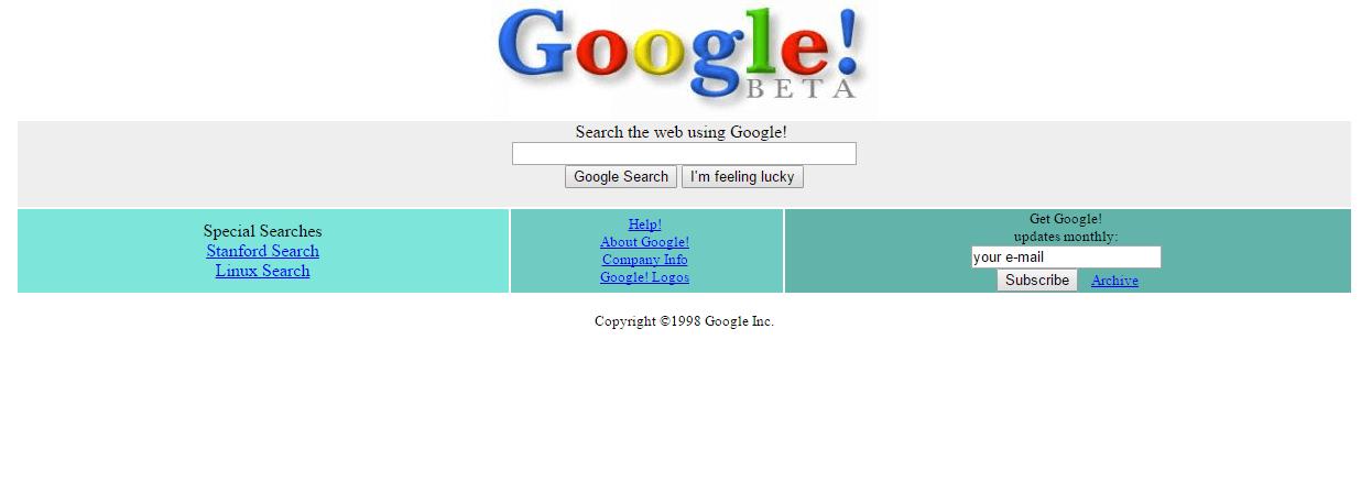 Google.com eski hali