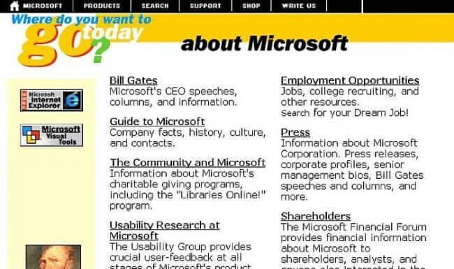 Microsoft.com İlk Hali