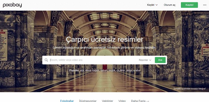 Ücretsiz Stok Siteleri Pixabay