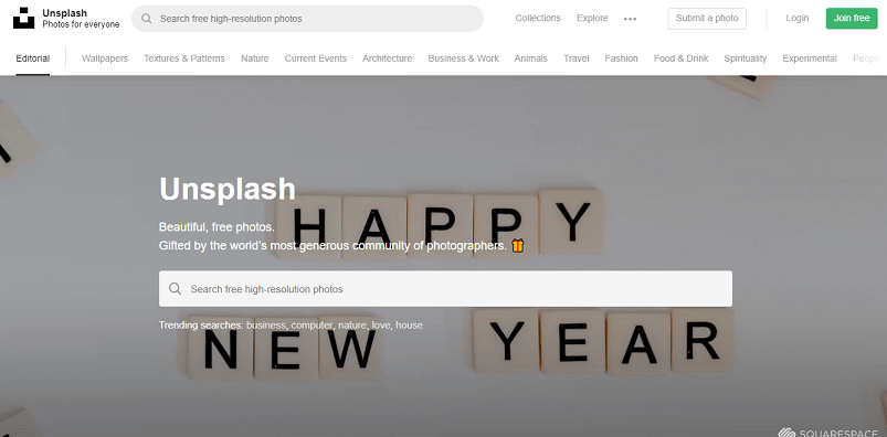 Ücretsiz Stok Siteleri Unsplash