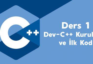 C++ Giriş - Yazılım Öğrenmek