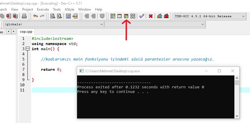 C++ Yorum Satırı